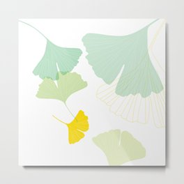 Gingko Leaves Metal Print