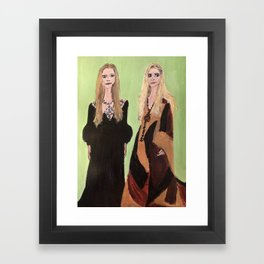 MaryKate and Ashley at Met Gala Framed Art Print