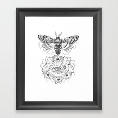 All Seeing Death's Head Framed Art Print