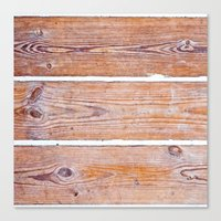 wooden Canvas Prints featuring Wooden Boards by Patterns and Textures
