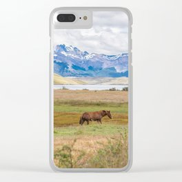 Torres del Paine - Wild Horses Clear iPhone Case