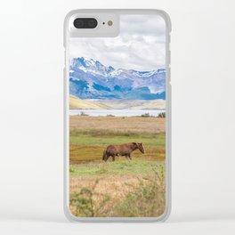 Torres del Paine - Wild Horses Clear iPhone Case