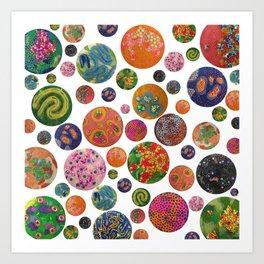Petri Dish Polka Dot  Art Print