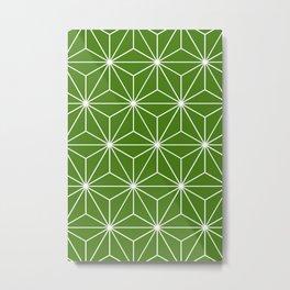 Geometric Stars - Emerald Metal Print
