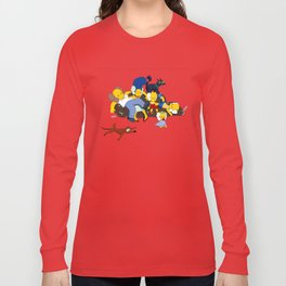 Kaws Nigo Kimpsons Family Long Sleeve T-shirt