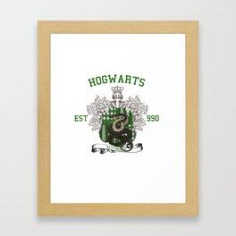 University Style School Shirt | Slytherin Framed Art Print