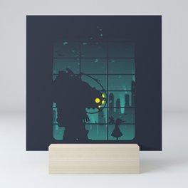 bioshock big daddy Mini Art Print