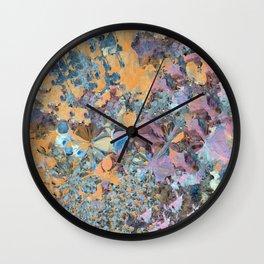 Purple and Orange Flower Garden Wall Clock