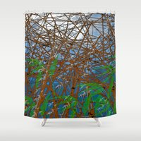 bamboo Shower Curtains featuring Bamboo by dominiquelandau