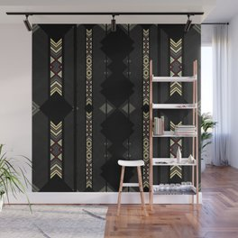 Southwestern Black Diamond Stripe Patterns Wall Mural