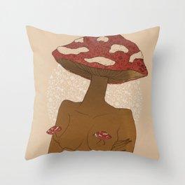 Amanita Throw Pillow
