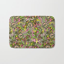 handdrawn ethnic abstract seamless background  Bath Mat