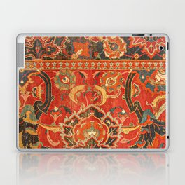 Red Arabic Rug I // 17th Century Colorful Firey Red Light Teal Sapphire Navy Blue Ornate Pattern Laptop & iPad Skin