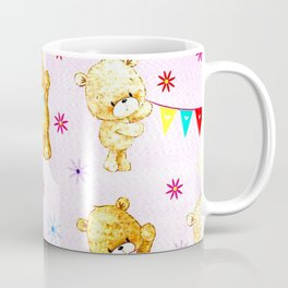 yellow and pink little teddies Coffee Mug