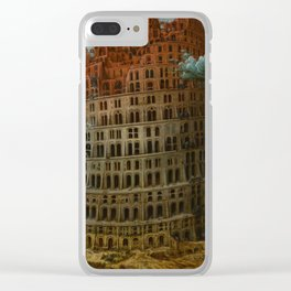 The Tower of Babel by Pieter Bruegel the Elder Clear iPhone Case