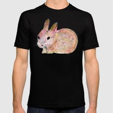 Easter Bunny Black MEDIUM Mens Fitted Tee