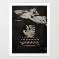 typewriter Art Prints featuring Typewriter by Tom Melsen