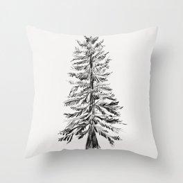 Cedar Tree Throw Pillow