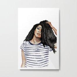 Kiera • Fashion Illustration | Art Print | Portrait | Watercolor Art Metal Print