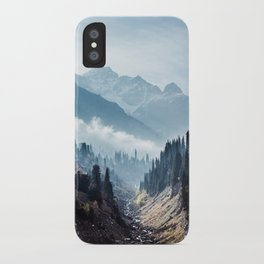 VALLEY - MOUNTAINS - TREES - RIVER - PHOTOGRAPHY - LANDSCAPE iPhone Case