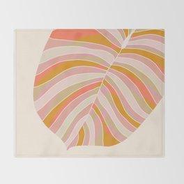 Tropical Leaf, 1975 Throw Blanket