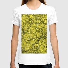 Lemon Yellow Hunting Camo Pattern T-shirt