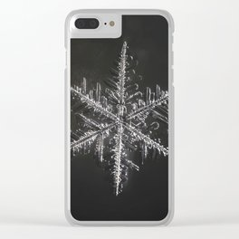 January Snowflake #4 Clear iPhone Case