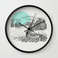 pirates Wall Clocks featuring Pirates by Zeke Tucker