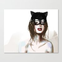 superheroes Canvas Prints featuring Superheroes SF by Dnzsea