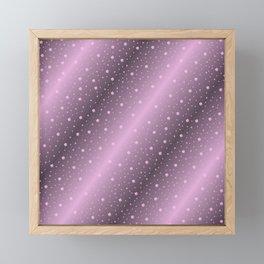 purple,Many pretty shamrocks in a design metal shiny festively elegant, for anyone from the family Framed Mini Art Print