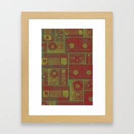 Casette summer Framed Art Print
