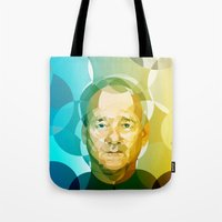 bill Tote Bags featuring Bill by Tom Johnson