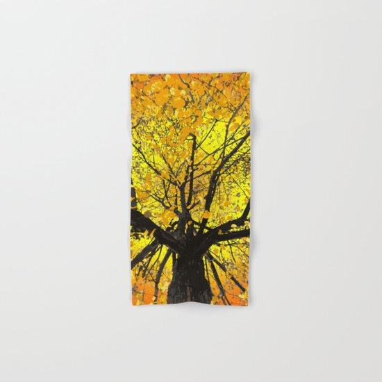 Yellow Leaves Hand & Bath Towel