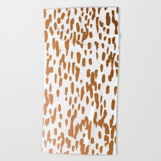 Copper Brushstrokes #society6 #decor #interiors Beach Towel