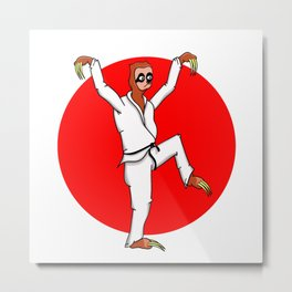 Sloth Karate Metal Print