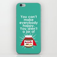 nutella iPhone & iPod Skins featuring Nutella fan poster. Nutella quote by Owlyprint