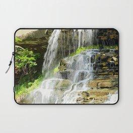 Misty Fountain Waterfall Laptop Sleeve
