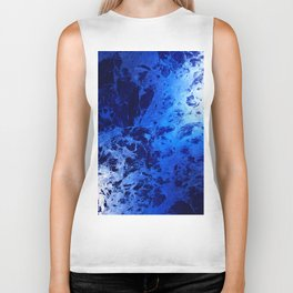 Blue Marble Dream Abstract Biker Tank