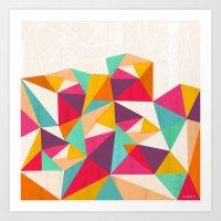 diamond Art Prints featuring Diamond by Kakel