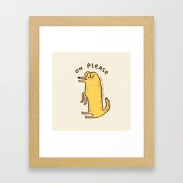 Honest Dog Framed Art Print