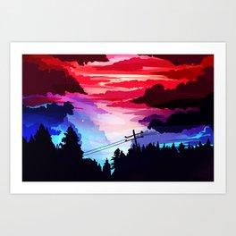 80's Sky Art Print