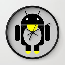 linux Tux penguin android  Wall Clock