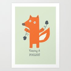 Get Your Mittens On! Art Print