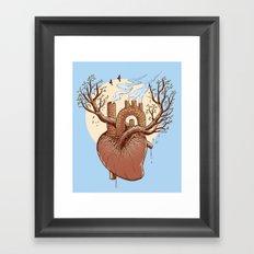 Always in my heart Framed Art Print