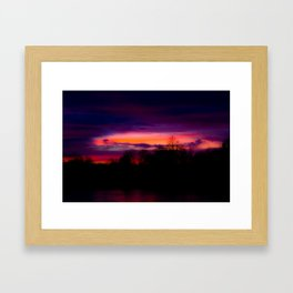 A Sunset in February Framed Art Print