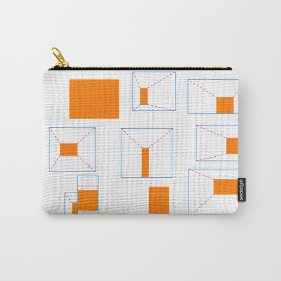 ORANGE ABSTRACT LIGHTS Carry-All Pouch