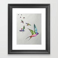 Swallows in Flight Framed Art Print