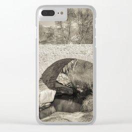 Medieval bridge Clear iPhone Case