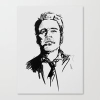 robert downey jr Canvas Prints featuring Robert Downey Jr by charlotvanh