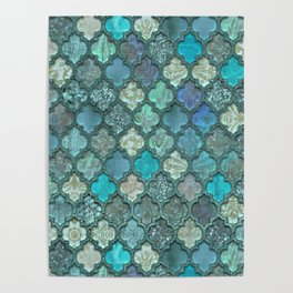 Moroccan Inspired Precious Tile Pattern Poster